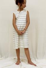 Vestido junior listado sin mangas. Tallas 8, 10, 12 años.