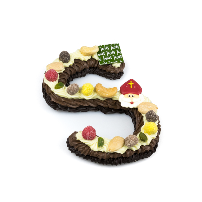 Luxe 3-kleur chocoladeletter