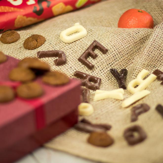 Kleine chocoladeletters