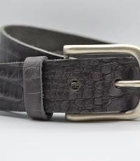 Scotts Bluf 4cm croco grijs italiaans volnerf lederen casual riem