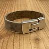 Scotts Bluf Bruine armband gemaakt van vintage bruin leer en oud zilveren magneetsluiting.