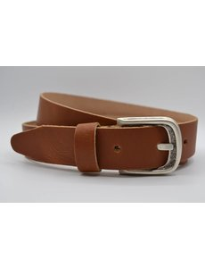 Scotts Bluf split lederen cognac kinder riem
