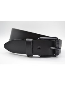 Scotts Bluf split lederen 40mm zwarte casual riem