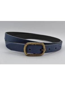 Rock 'n Rich blauw 20mm brede riem met sjieke gesp