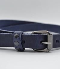 Rock 'n Rich blauwe 20mm brede riem met studs op de lus