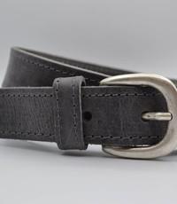 Scotts Bluf 35mm grijs gestikte italiaans volnerf lederen riem