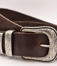 Scotts Bluf 4cm western bruine volnerf lederen riem