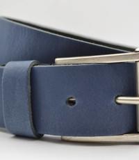 Scotts Bluf 4,5cm echt lederen casual blauwe riem.