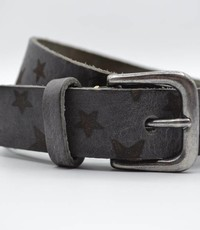 Scotts Bluf 3cm grijze kinder riem met sterprint