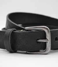 Scotts Bluf 3cm zwarte kinder riem met sneeuvlok print