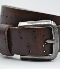 Scotts Bluf 35mm bruine kinder riem met gebrande gaatjes