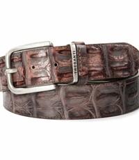 Tresanti Bruine 35mm brede riem met croco print