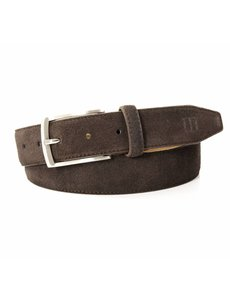 Tresanti bruine 35mm brede suede lederen riem