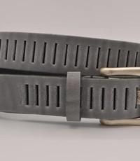 Scotts Bluf split lederen 30mm grijze casual perforatie riem