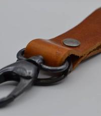 Scotts Bluf Cognac sleutelhanger met naam of logo