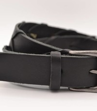 Scotts Bluf Zwarte 3cm brede unieke riem