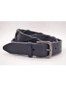 Scotts Bluf Blauwe 3cm brede unieke riem