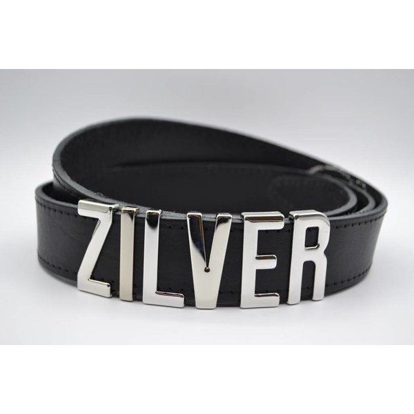 Rock 'n Rich Zelf te personaliseren riem voor gouden of zilveren letters.