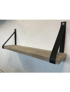 Scotts Bluf Leren Plankdragers Zwart inclusief plank