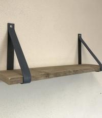 Scotts Bluf Leren Plankdragers blauw inclusief plank