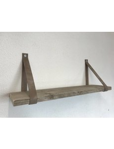 Scotts Bluf Leren Plankdragers taupe inclusief plank