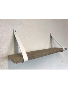 Scotts Bluf Leren Plankdragers wit inclusief plank