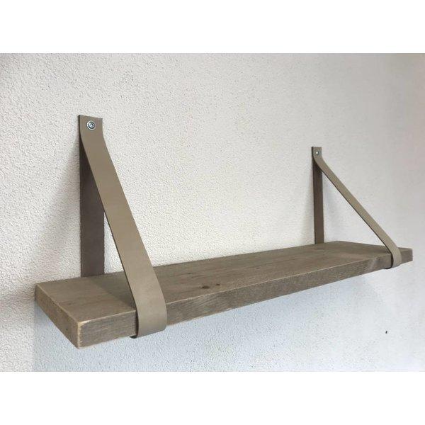 Scotts Bluf Een stoer product in onze collectie, Scotts Bluf zwart leren plankdragers!