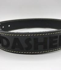 Scotts Bluf Hondenhalsband 50cm zwart echt Italiaans leer