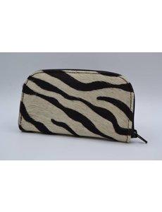 Scotts Bluf koehuid portemonnee met zebra print