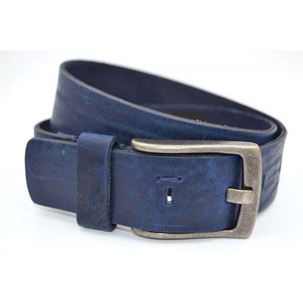 Scotts Bluf Blauwe riem van italiaanse topkwaliteit en gave details