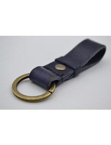 Scotts Bluf Blauwe vintage sleutelhanger met naam of logo