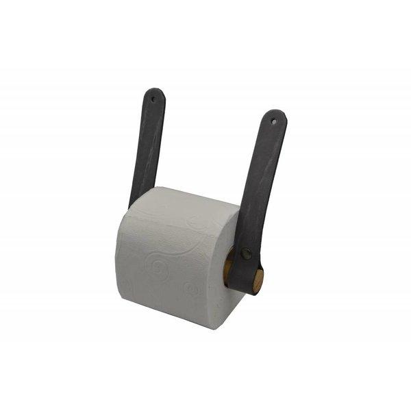 Scotts Bluf Trendy toiletrolhouder van leer en hout