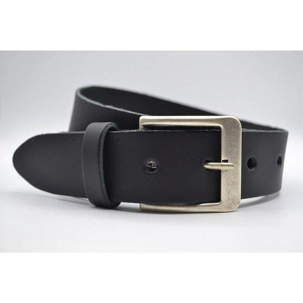 Big Belts Deze 4cm brede zwarte riem wordt speciaal voor u op maat gemaakt.