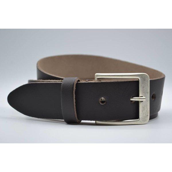 Big Belts Deze 4cm brede bruine riem wordt speciaal voor u op maat gemaakt.
