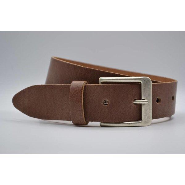 Big Belts Deze 4cm brede cognac riemen wordt speciaal voor u op maat gemaakt.