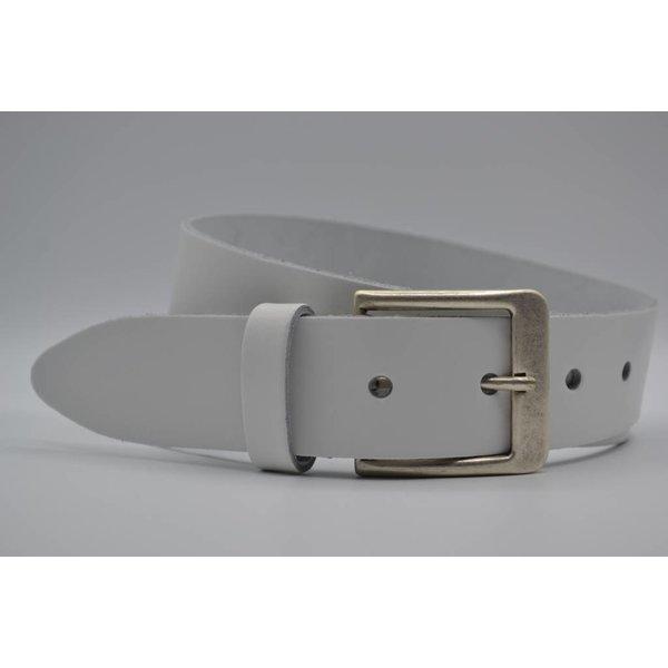Big Belts Deze 4cm brede witte riem wordt speciaal voor u op maat gemaakt.