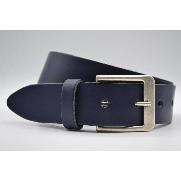 Big Belts Deze 4cm brede donker blauwe riem wordt speciaal voor u op maat gemaakt. - Copy
