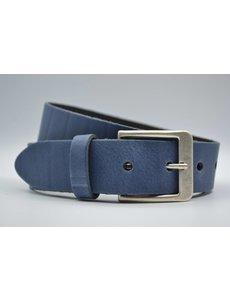 Big Belts blauwe extra lange riemen op maat