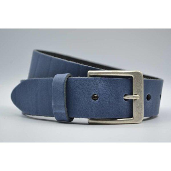 Big Belts Deze 4cm brede blauwe riem wordt speciaal voor u op maat gemaakt.