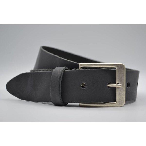 Big Belts Deze 4cm brede antraciet riem wordt speciaal voor u op maat gemaakt.