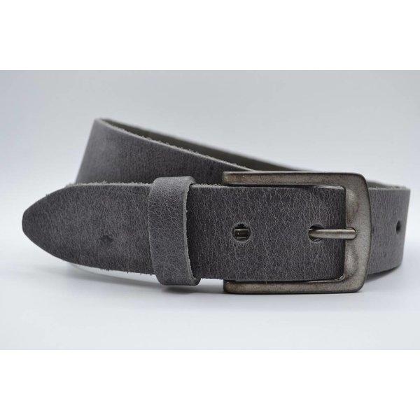 Big Belts Deze 4cm brede grijze riem wordt speciaal voor u op maat gemaakt.