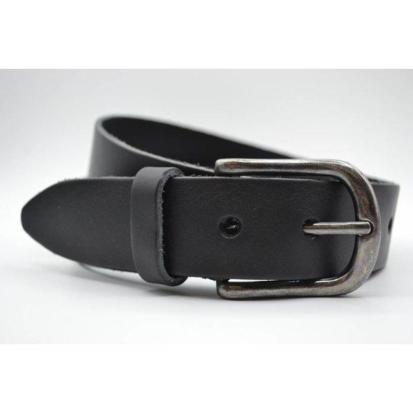 Big Belts Deze 4cm brede zwarte riem van Italiaans nerf leer wordt speciaal voor u op maat gemaakt.