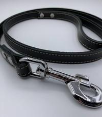 Scotts Bluf Hondenlijn zwart 1 meter lang