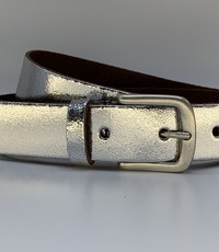 Rock 'n Rich Zilver kleurige riem van 3cm breed