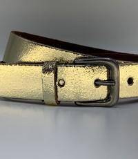 Rock 'n Rich Goud kleurige riem van 3cm breed.