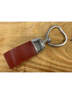Scotts Bluf Rode sleutelhanger met hart vormige sleutelring.