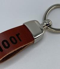 Scotts Bluf sleutelhanger met hart vormige sleutelring gepersonaliseerd
