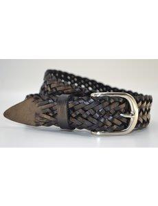 Scotts Bluf Stoere zwarte vlecht riem van 4cm breed.