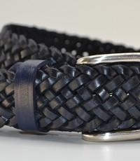 Scotts Bluf Stoere blauwe vlecht riem van 4cm breed.