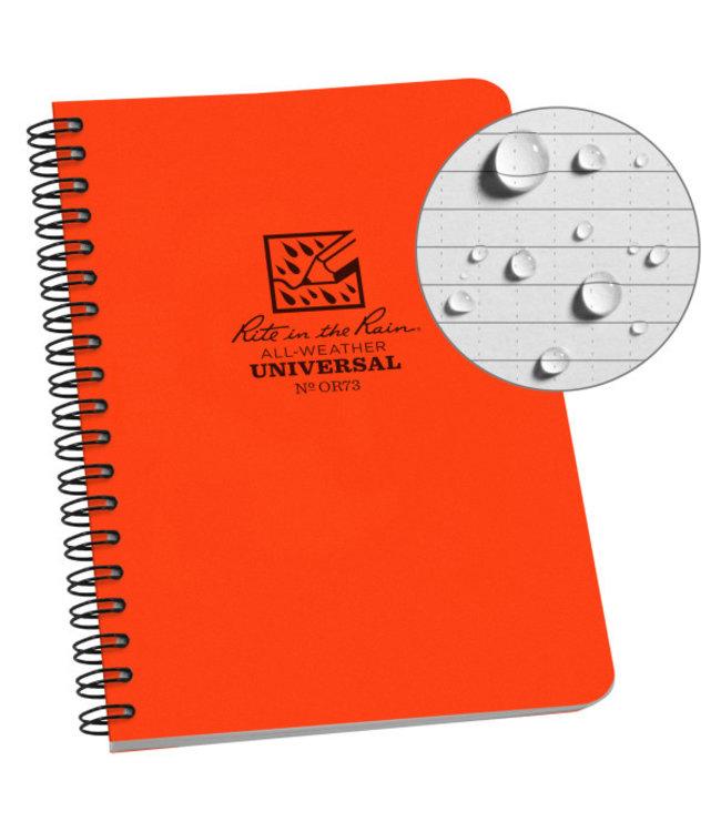 Rite in the Rain Side Spiral Notebook Blaze Orange OR73